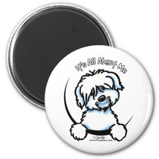Coton de Tulear Its All About Me 2 Inch Round Magnet