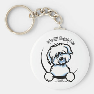 Coton de Tulear Its All About Me Basic Round Button Keychain