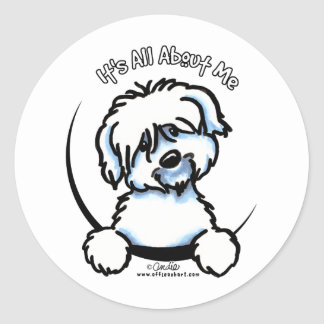 Coton de Tulear Its All About Me Classic Round Sticker