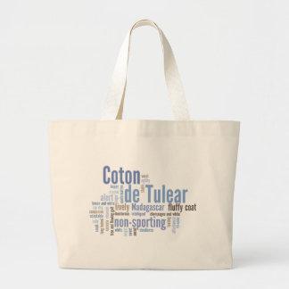 Coton de Tulear Large Tote Bag