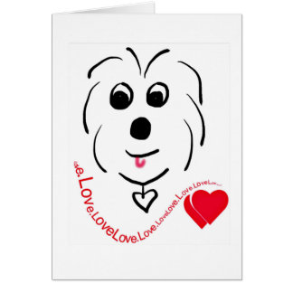 Coton de Tulear Love Card