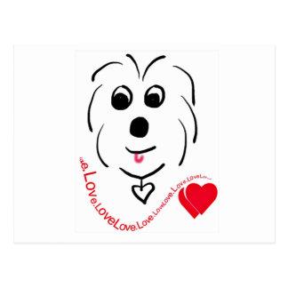 Coton de Tulear Love Postcard