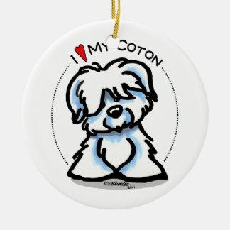 Coton de Tulear Lover Ceramic Ornament