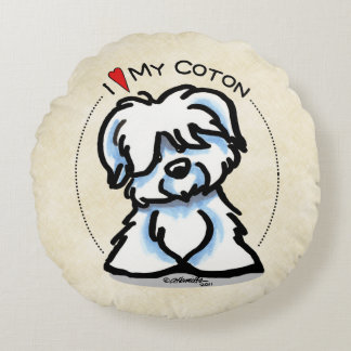 Coton de Tulear Lover Round Pillow