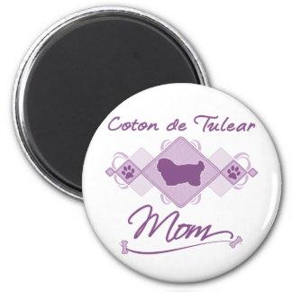 Coton de Tulear Mom 2 Inch Round Magnet