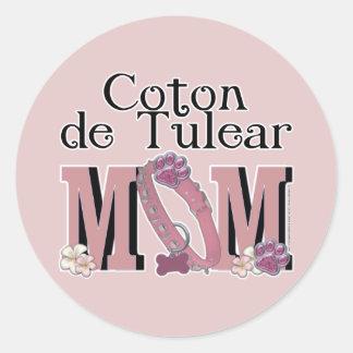 Coton de Tulear MOM Classic Round Sticker