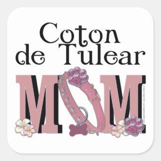 Coton de Tulear MOM Square Sticker
