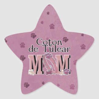 Coton de Tulear MOM Star Sticker