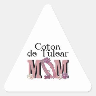 Coton de Tulear MOM Triangle Sticker
