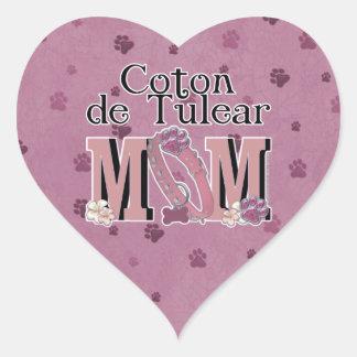 Coton de Tulear MOM Heart Sticker