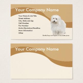 Coton De Tulear on Brown Wave Business Card