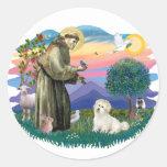 Coton de Tulear Round Sticker