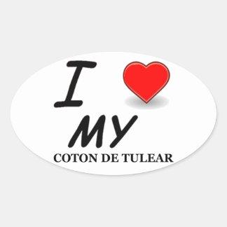 coton de tulear oval sticker
