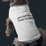 """coton de tulear tee<br><div class=""""desc"""">Select from our continously growing assortment of pedigree dog breeds,  hybrid (designer) breeds,  or something to celebrate the ever-loveable mongrel.  Choose from 2 different shirt styles and a variety of colors.</div>"""