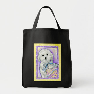Coton de Tulear Thank You Tote Grocery Tote Bag