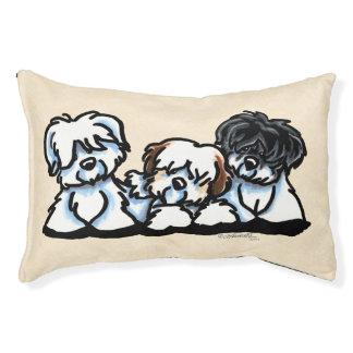 Coton De Tulear Trio Pet Bed