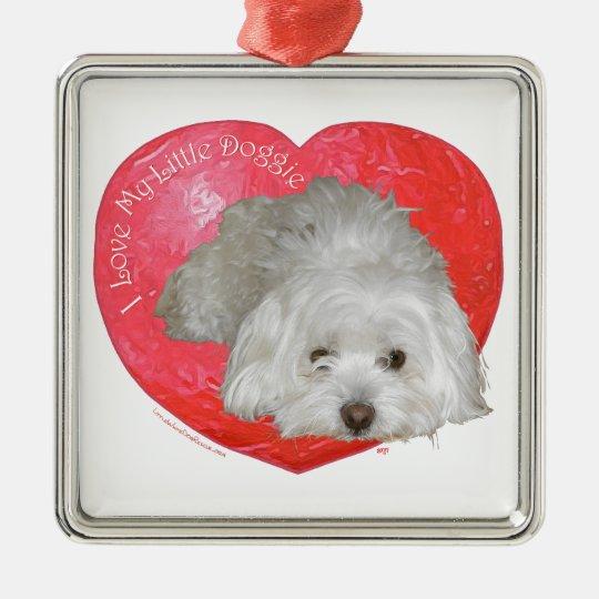 Coton de Tulear Valentine's Day Metal Ornament