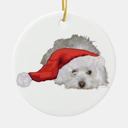 Coton de Tulear - Waiting Ceramic Ornament