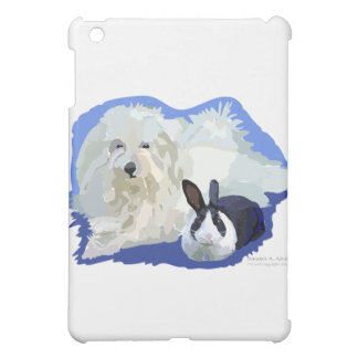 Coton de Tulier and a Dutch Bunny Cuddling iPad Mini Cover
