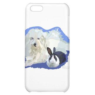 Coton de Tulier and a Dutch Bunny Cuddling iPhone 5C Case