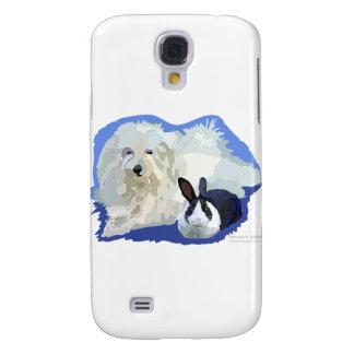 Coton de Tulier and a Dutch Bunny Cuddling Samsung Galaxy S4 Case