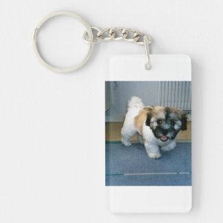 coton puppy 2.png Double-Sided rectangular acrylic keychain