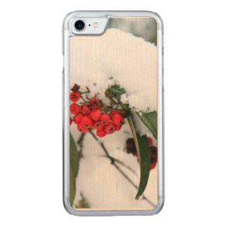 Cotoneaster Fruits with a Snow Hat Carved iPhone 7 Case