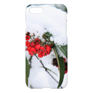 Cotoneaster Fruits with a Snow Hat iPhone 7 Case