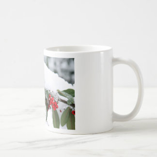 Cotoneaster Fruits with a Snow Hat Coffee Mug