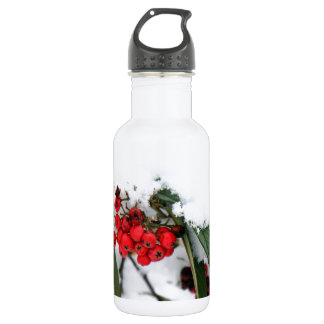 Cotoneaster Fruits with a Snow Hat 18oz Water Bottle