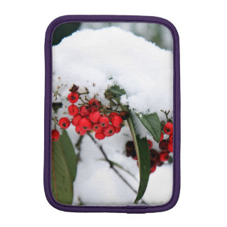 Cotoneaster Fruits with a Snow Hat Sleeve For iPad Mini