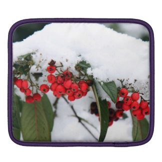 Cotoneaster Fruits with a Snow Hat Sleeve For iPads