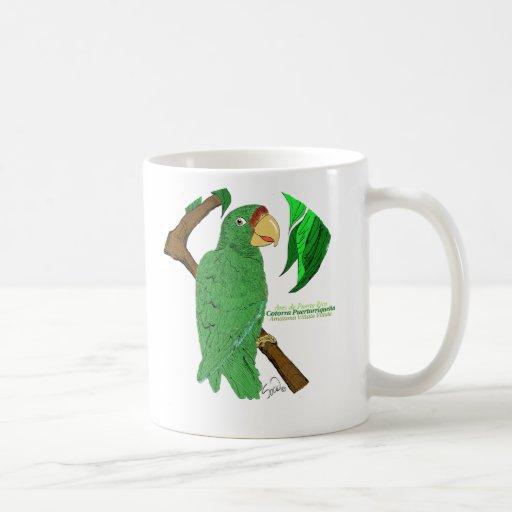 Cotorra Puertorriqueña/Puerto Rican Parrot Mugs