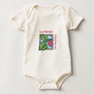 Cotos de frambuesa traje de bebé