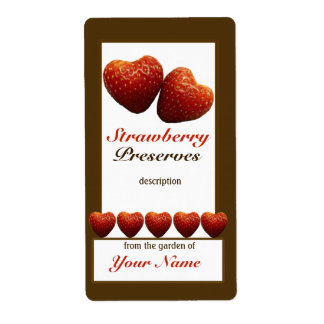 Cotos de fresa que conservan la etiqueta 1 del tar etiqueta de envío