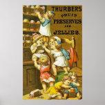 Cotos y jaleas de la fruta del ~ de Thurbers Impresiones