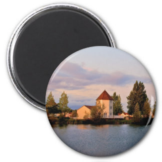 Cotswold Lakeside apartments 2 Inch Round Magnet