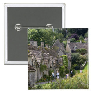 Cotswold stone cottages in the village of pin