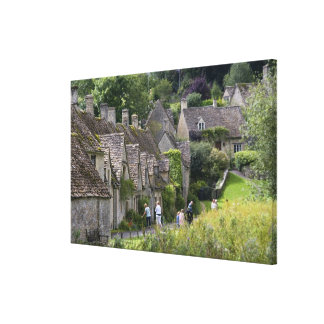 Cotswold stone cottages in the village of gallery wrap canvas