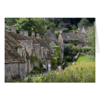 Cotswold stone cottages in the village of card