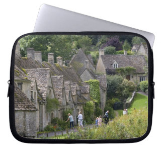 Cotswold stone cottages in the village of computer sleeve