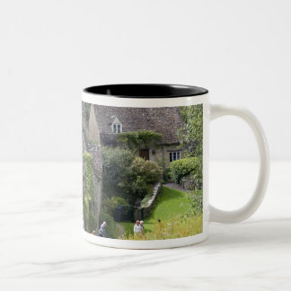 Cotswold stone cottages in the village of mugs