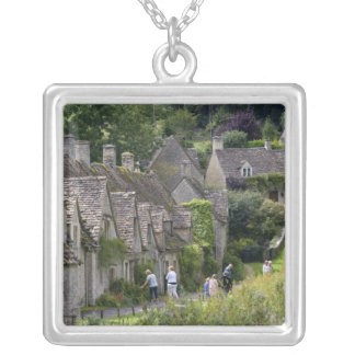 Cotswold stone cottages in the village of custom necklace