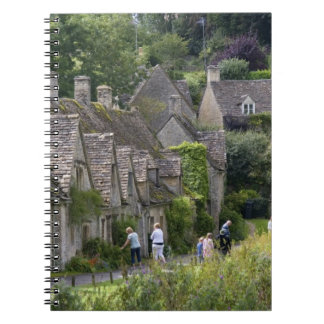Cotswold stone cottages in the village of spiral note book