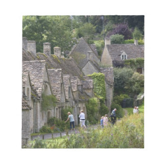 Cotswold stone cottages in the village of note pad