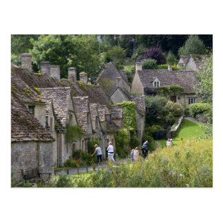 Cotswold stone cottages in the village of postcard