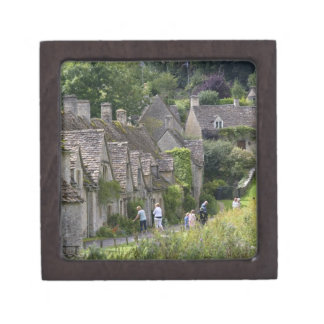 Cotswold stone cottages in the village of premium trinket boxes