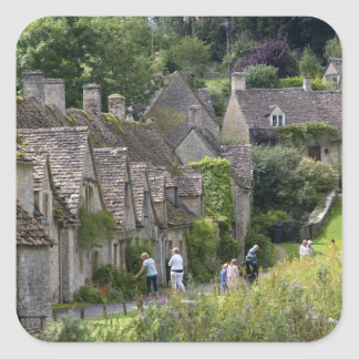 Cotswold stone cottages in the village of square stickers