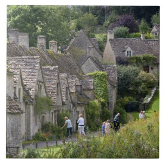 Cotswold stone cottages in the village of ceramic tiles