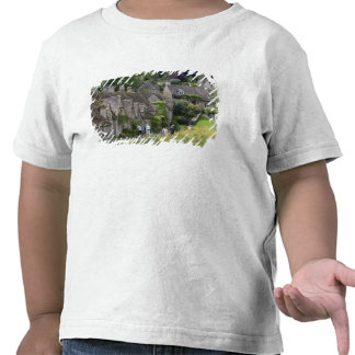Cotswold stone cottages in the village of tee shirt